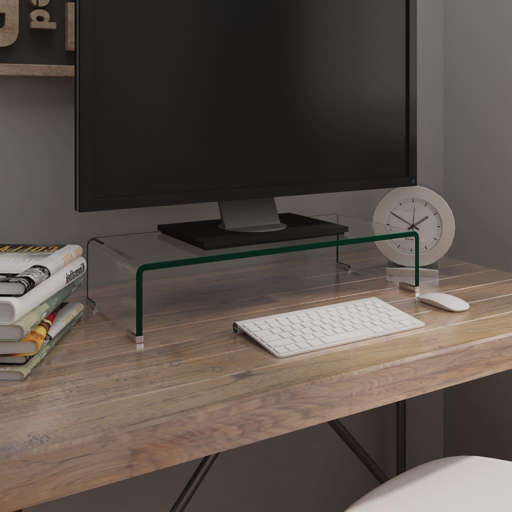 vidaxl tv tisch bildschirmerh hung glas transparent 60x25x11 cm im vidaxl trendshop. Black Bedroom Furniture Sets. Home Design Ideas