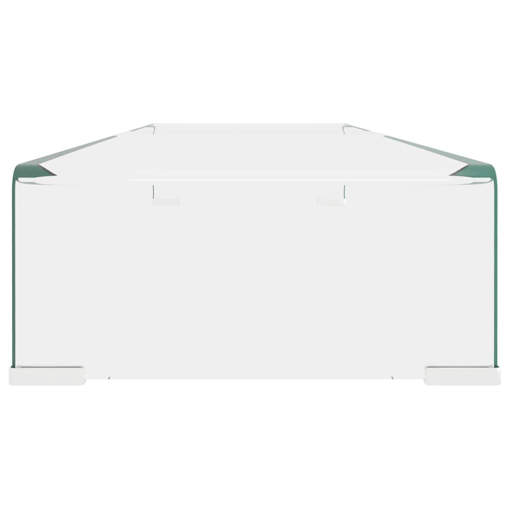 Vidaxl Meuble Tv De Salon Support Pour Moniteur 100x30x13 Cm Verre  # Meuble Tv En Verre Transparent