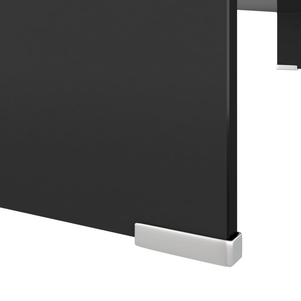 Acheter vidaxl meuble tv support pour moniteur 100 x 30 x for Meuble tv noir 100 cm