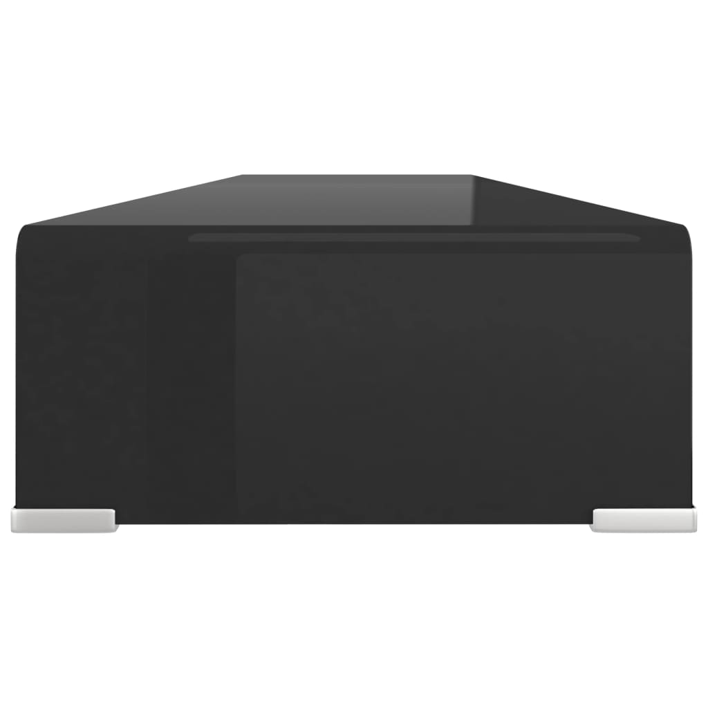 vidaxl tv tisch bildschirmerh hung glas schwarz 120x30x13. Black Bedroom Furniture Sets. Home Design Ideas