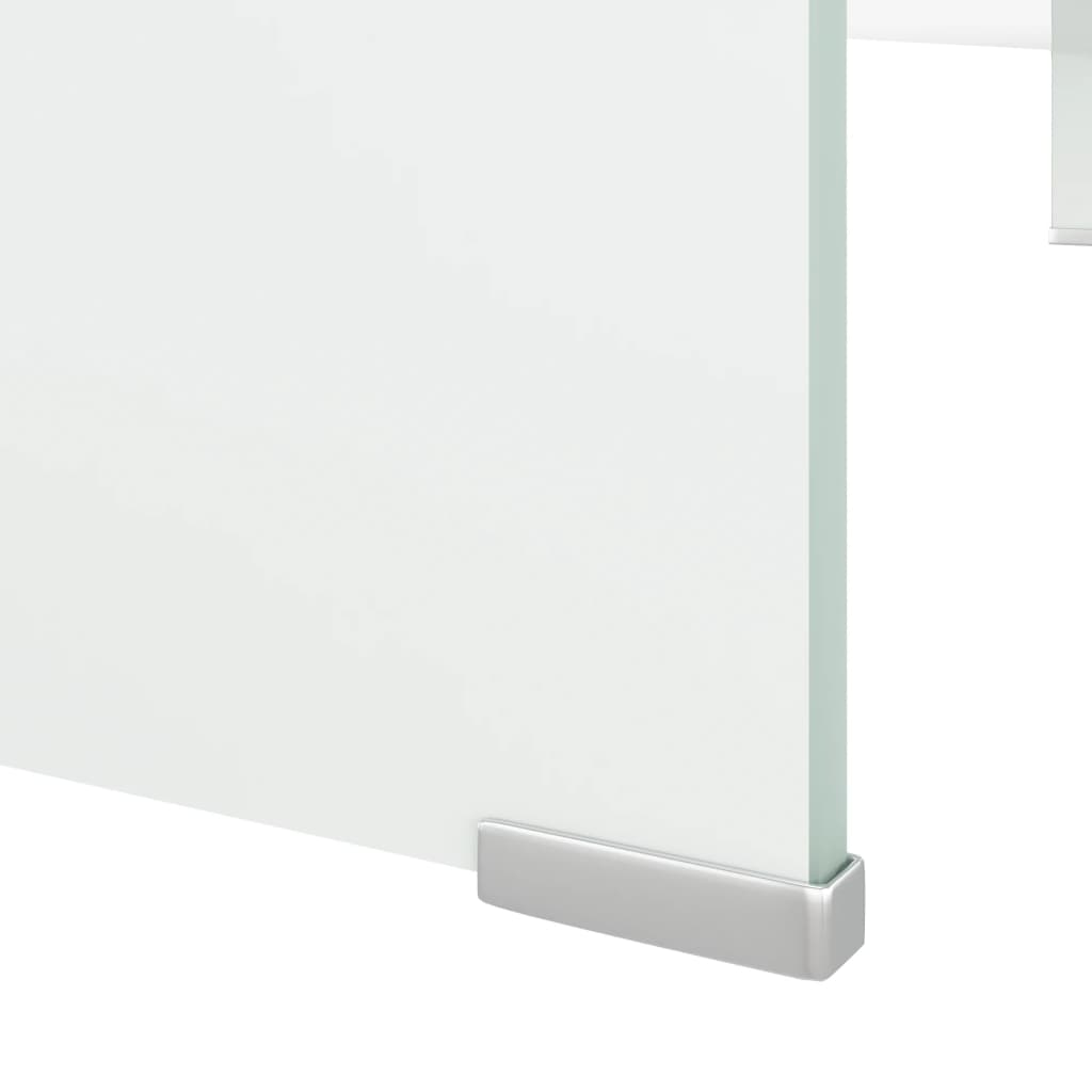 Acheter vidaxl meuble tv support pour moniteur 110 x 30 x for Meuble blanc 110 cm