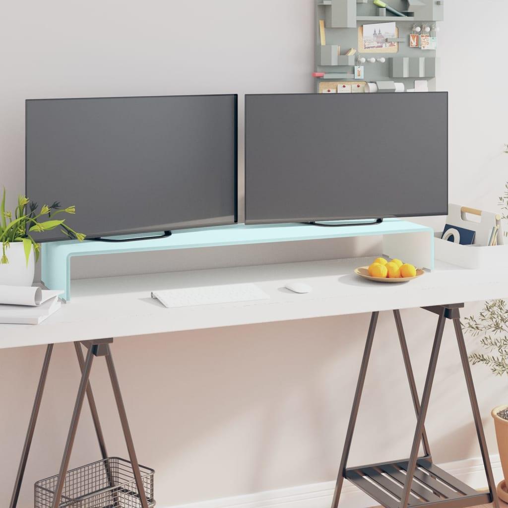 Acheter vidaxl meuble tv support pour moniteur 110 x 30 x for Meuble tv blanc 110 cm