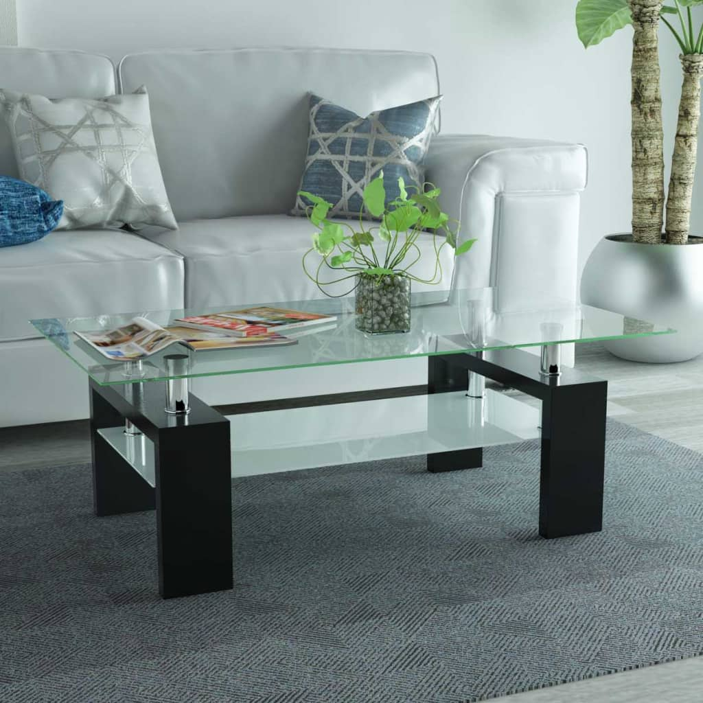 vidaXL-High-Gloss-Coffee-Accent-Table-with-Lower-Shelf-Indoor-Furniture-Black