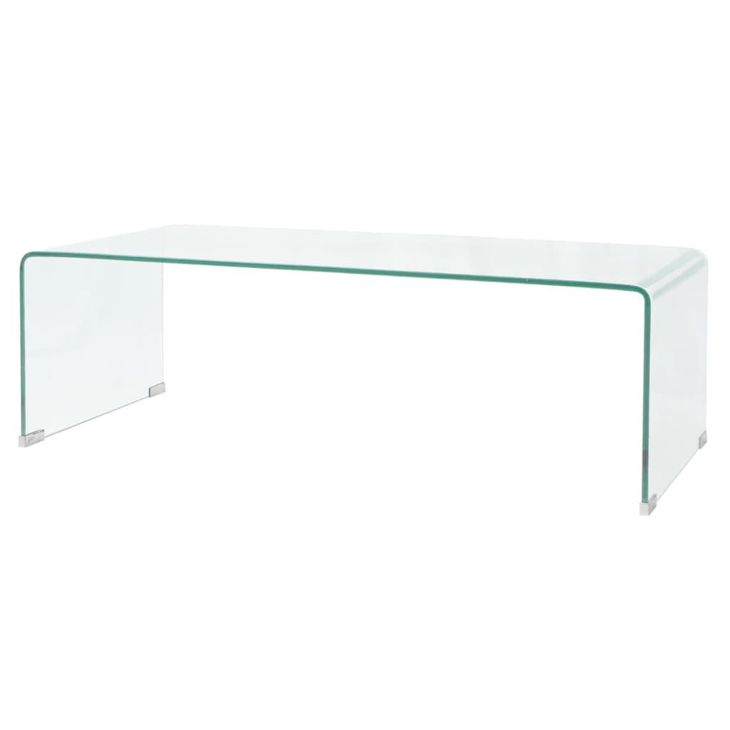 vidaXL Stolik kawowy, szkło hartowane 100x48x33 cm