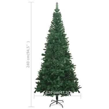 vidaxl k nstlicher weihnachtsbaum l 240 cm gr n im vidaxl. Black Bedroom Furniture Sets. Home Design Ideas