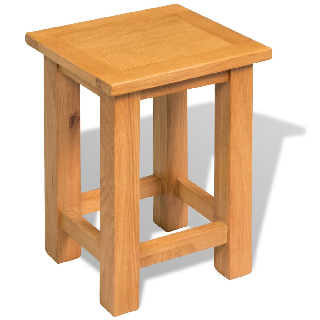 vidaXL tömör tölgyfa asztalka 27 x 24 37 cm