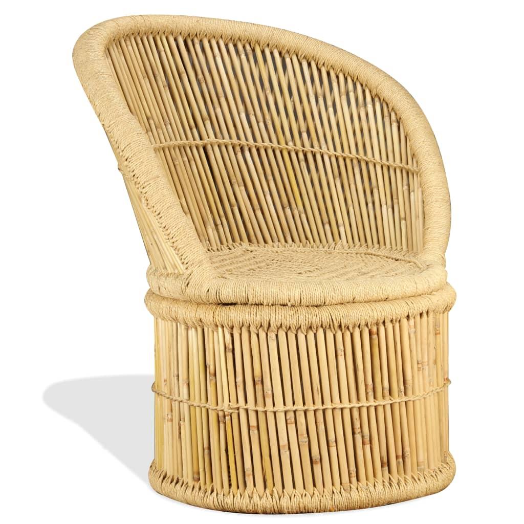 vidaXL Krzesło bambusowe, 60 x 61 x 82 cm