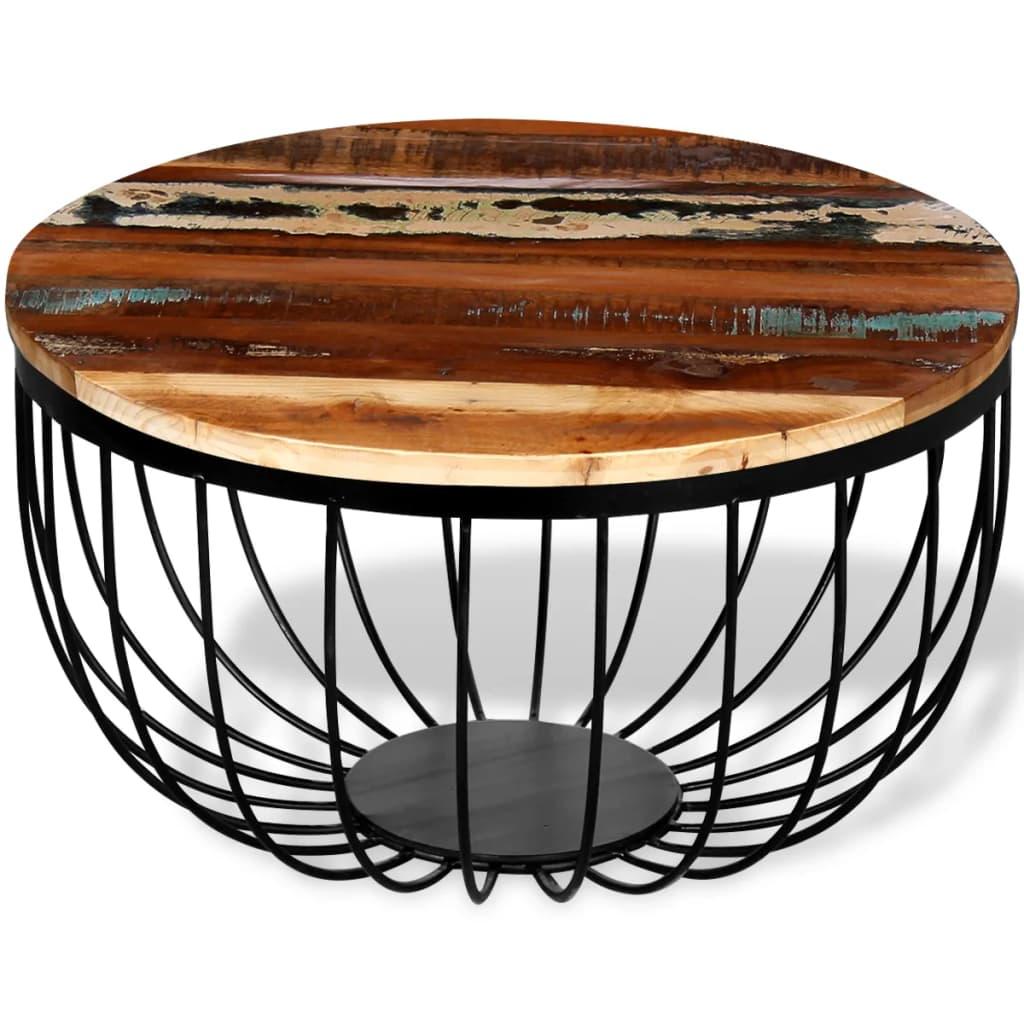 Wood Cayman Coffee Table: VidaXL Coffee Table Solid Reclaimed Wood