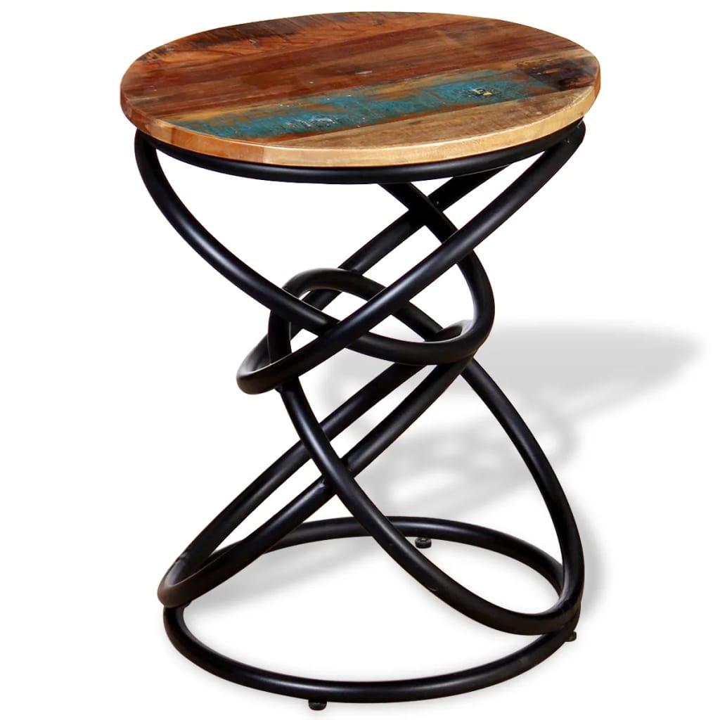 vidaXL tömör újrahasznosított fa kisasztal