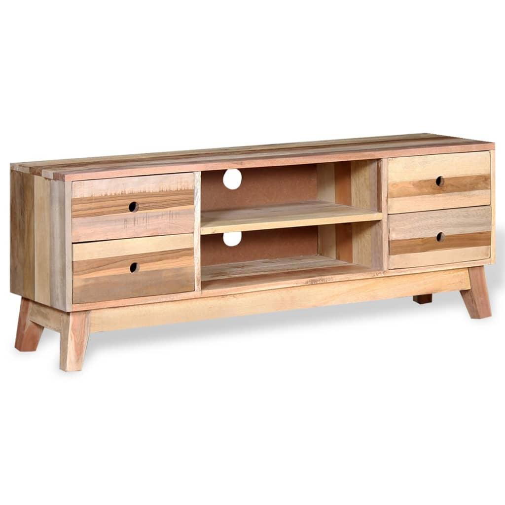 acheter vidaxl meuble tv bois de r cup ration massif pas cher. Black Bedroom Furniture Sets. Home Design Ideas