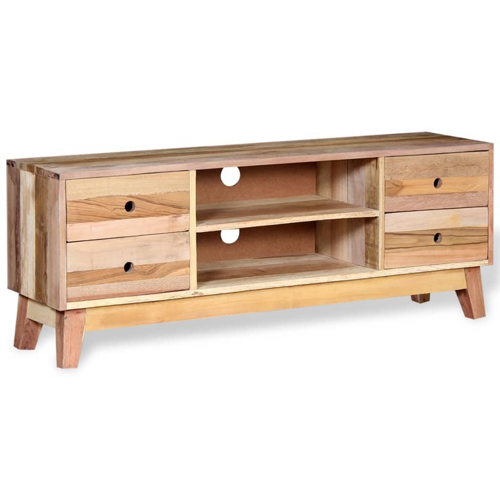 Acheter vidaxl meuble tv bois de r cup ration massif pas for Meuble bois massif pas cher