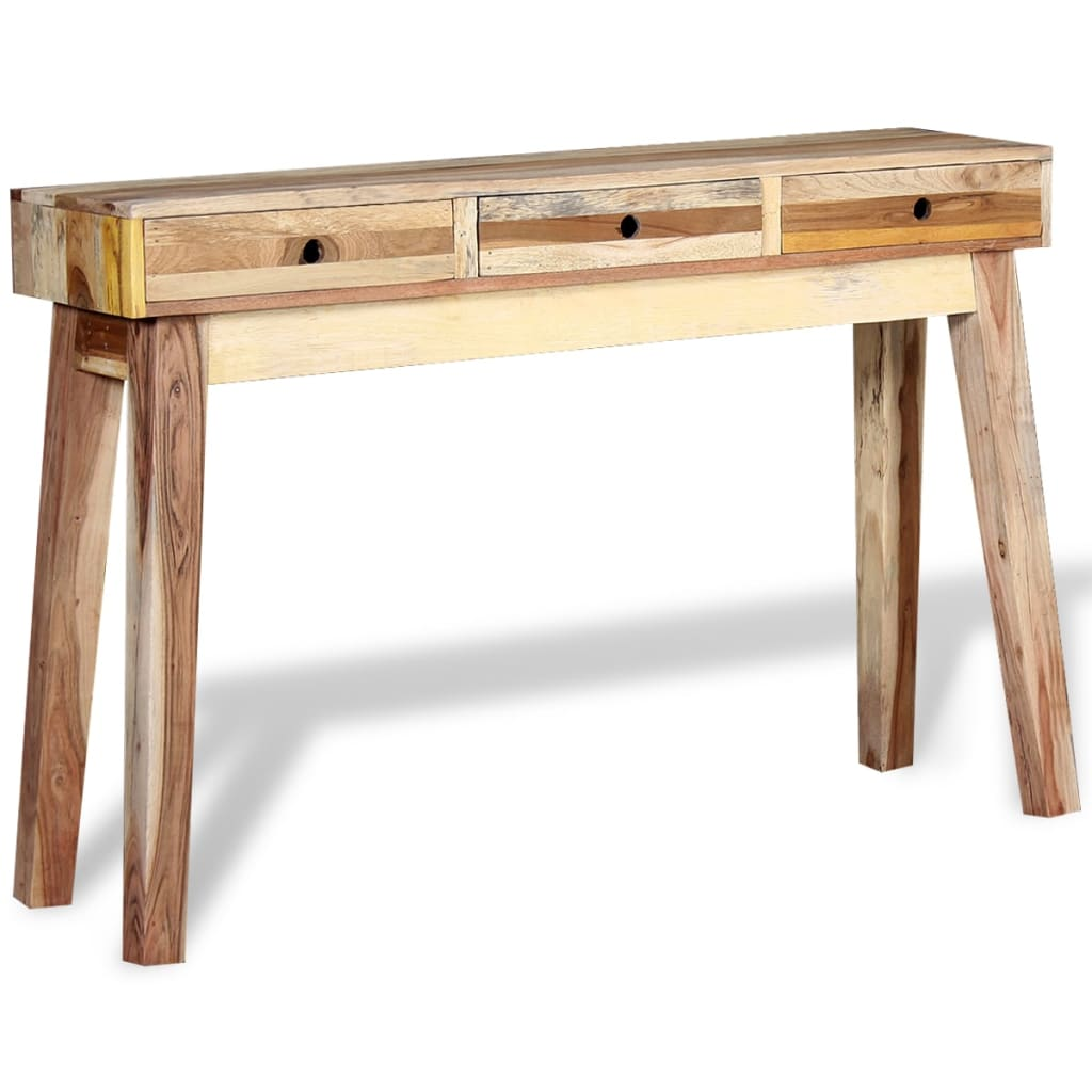 Vidaxl console table solid reclaimed wood