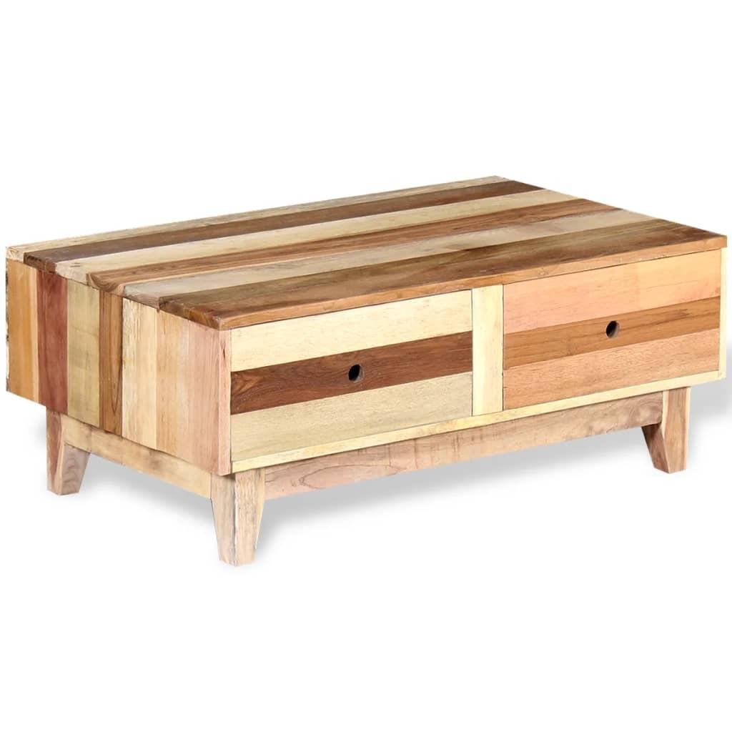vidaxl couchtisch aufgearbeitetes massivholz beige g nstig. Black Bedroom Furniture Sets. Home Design Ideas