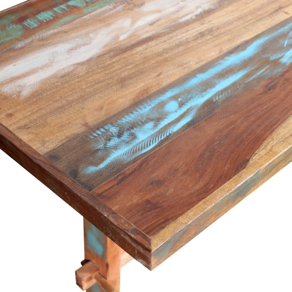 Vidaxl pedestal dining table solid reclaimed wood for Reclaimed wood colorado