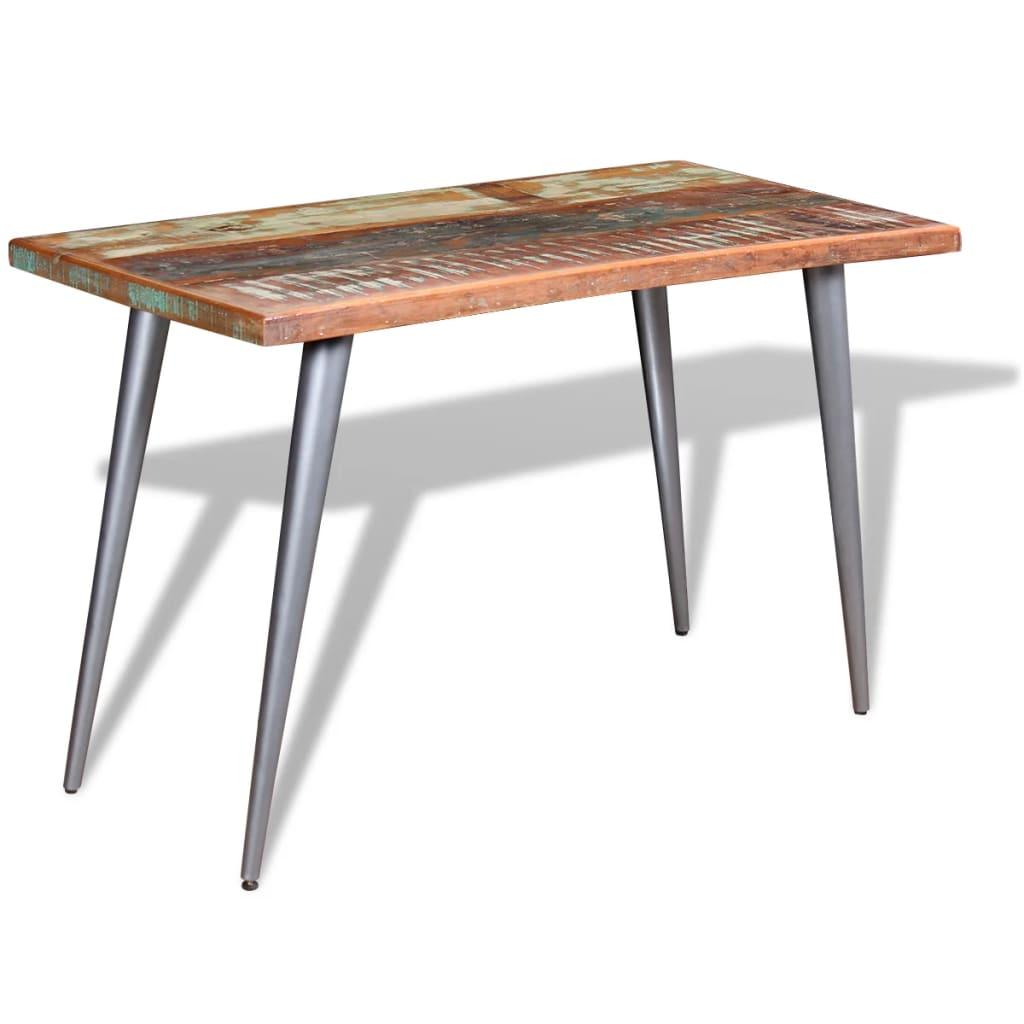 vidaXL Eettafel massief gerecycled hout 120x60x76 cm