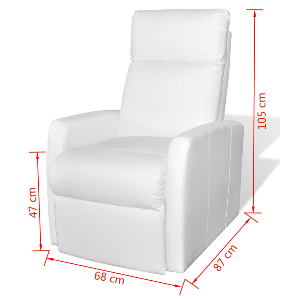 acheter vida xl fauteuil releveur lectrique inclinable tv blanc pas cher. Black Bedroom Furniture Sets. Home Design Ideas