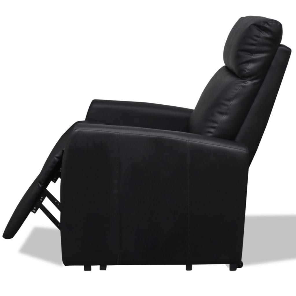 acheter vida xl fauteuil releveur lectrique inclinable tv noir pas cher. Black Bedroom Furniture Sets. Home Design Ideas
