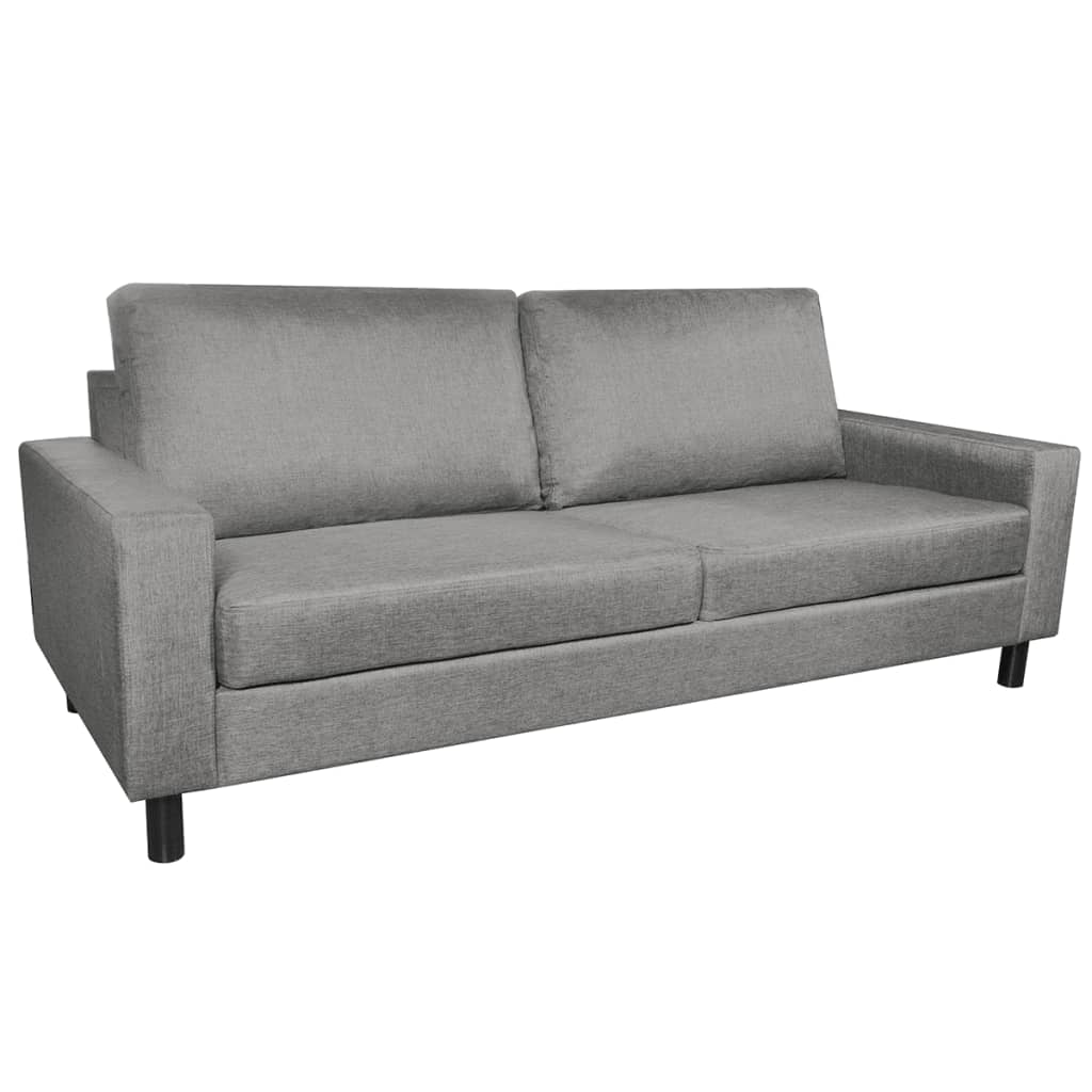 vidaXL Sofa 3 osbowa jasnoszara tkanina