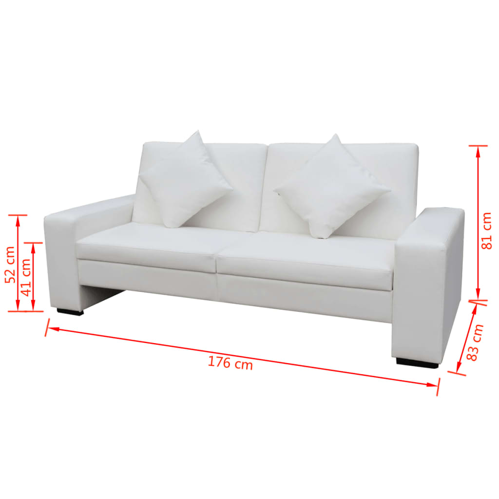vidaxl canap lit canap convertible clic clac salon blanc cuir artificiel ebay. Black Bedroom Furniture Sets. Home Design Ideas