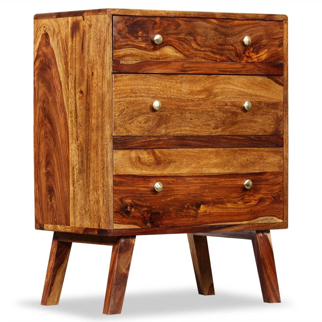 vidaXL Szafka boczna, lite drewno sheesham, 60 x 35 76 cm