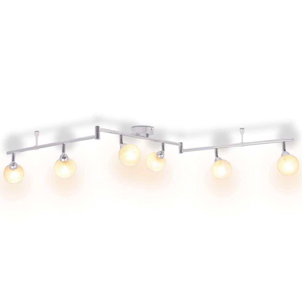 vidaXL króm mennyezeti lámpa 6 búrával G9