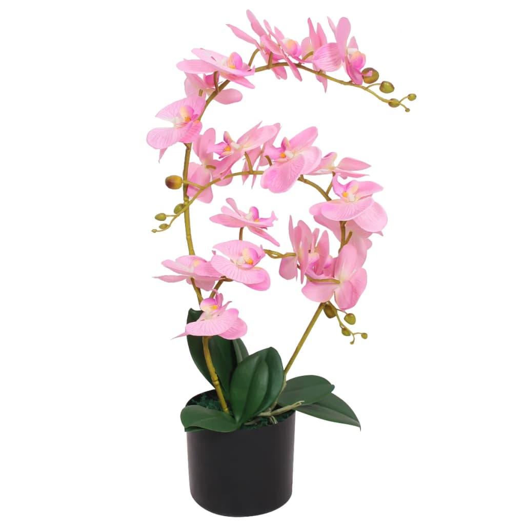 vidaXL műorchidea virágcseréppel 65 cm rózsaszín