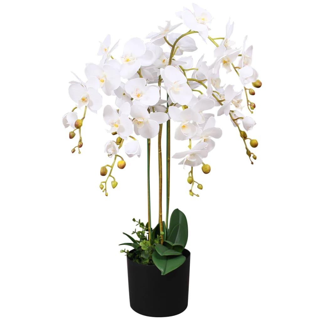 vidaXL műorchidea virágcseréppel 75 cm fehér