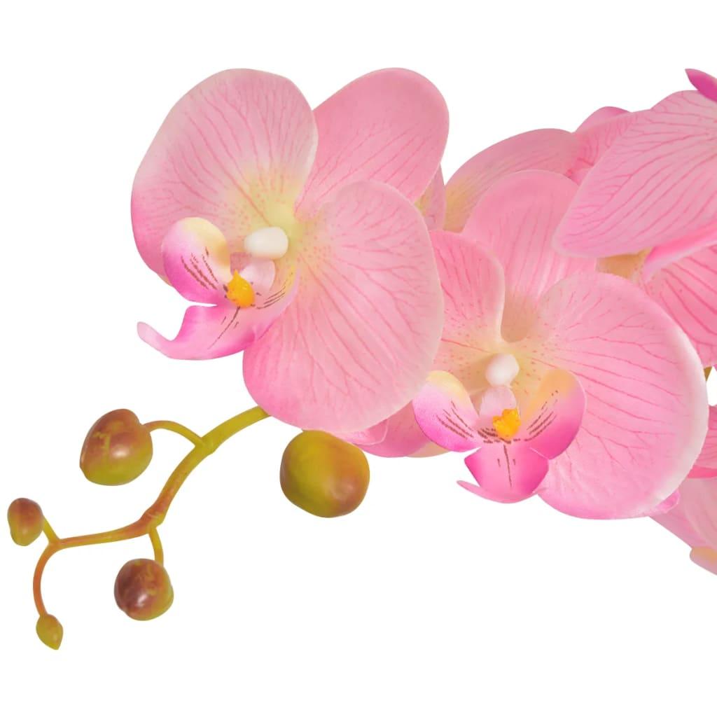 Vidaxl plante artificielle avec pot orchid e 75 cm rose for Plante artificielle solde