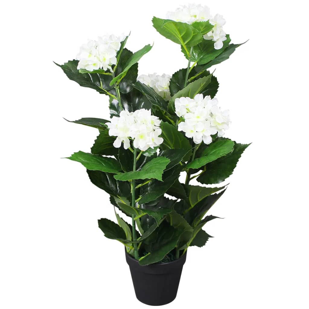 vidaXL műhortenzia virágcseréppel 60 cm fehér