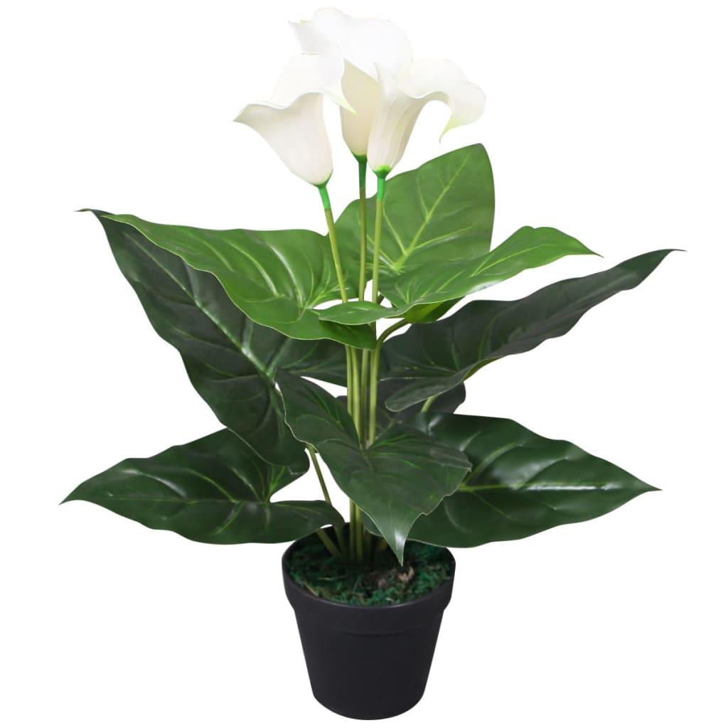 vidaXL műkála liliom virágcseréppel 40 cm fehér