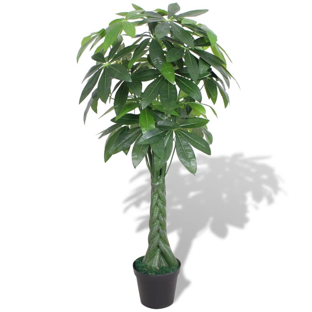 vidaxl arbre de la fortune artificiel avec pot 145 cm vert. Black Bedroom Furniture Sets. Home Design Ideas