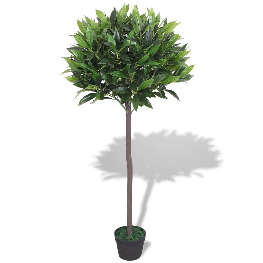 vidaxl laurier artificiel avec pot 125 cm vert. Black Bedroom Furniture Sets. Home Design Ideas