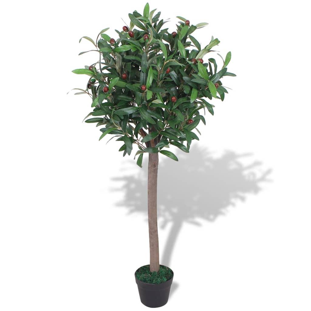 vidaXL műbabérfa virágcseréppel 120 cm zöld