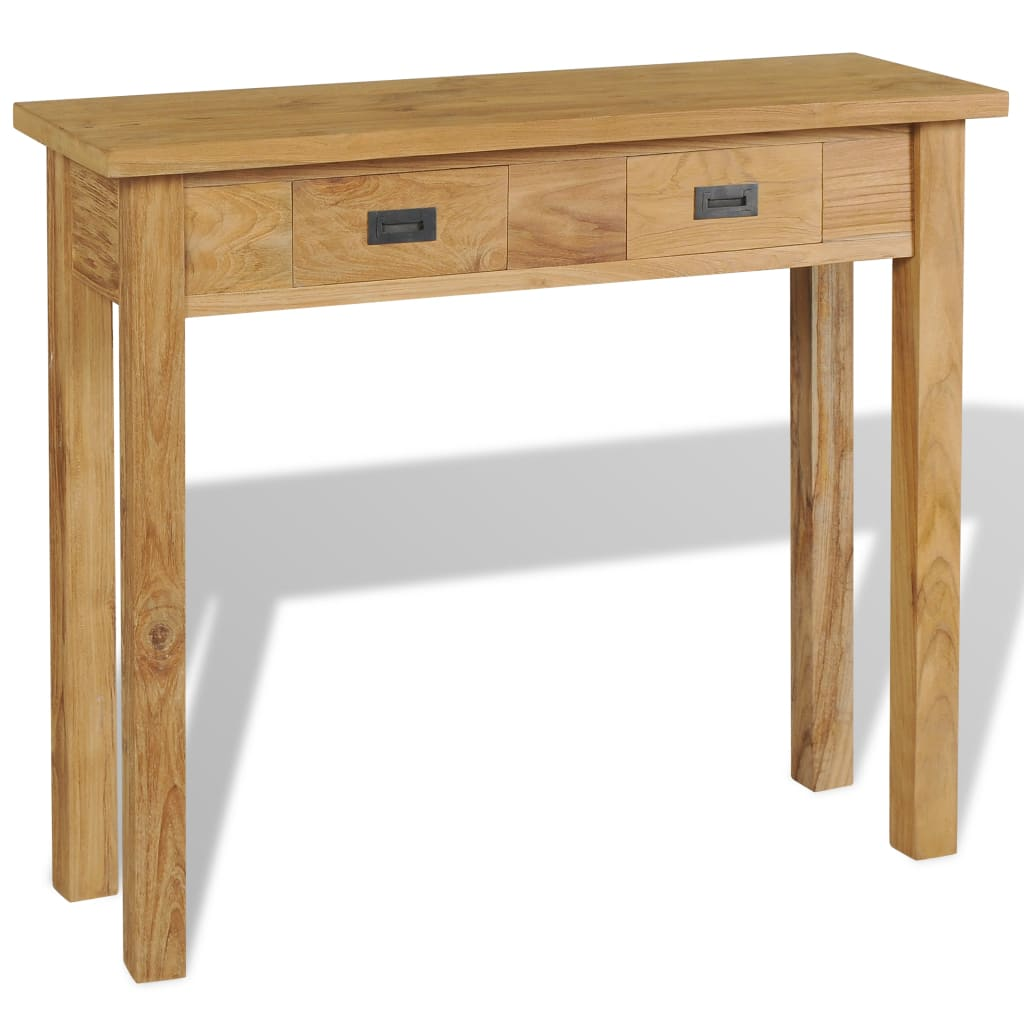 vidaXL tömör tíkfa tálalóasztal 90 x 30 80 cm