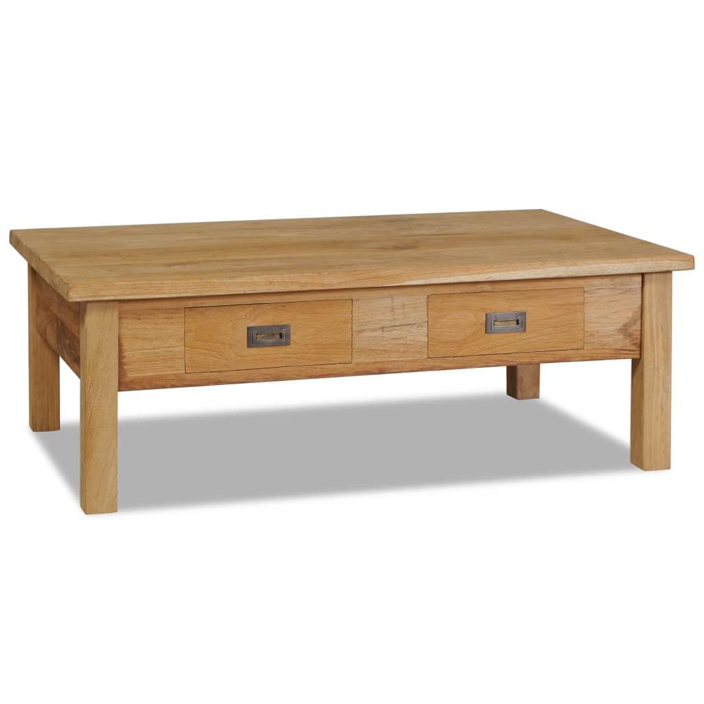 vidaXL Stolik kawowy, lite drewno tekowe, 100 x 60 x 35 cm