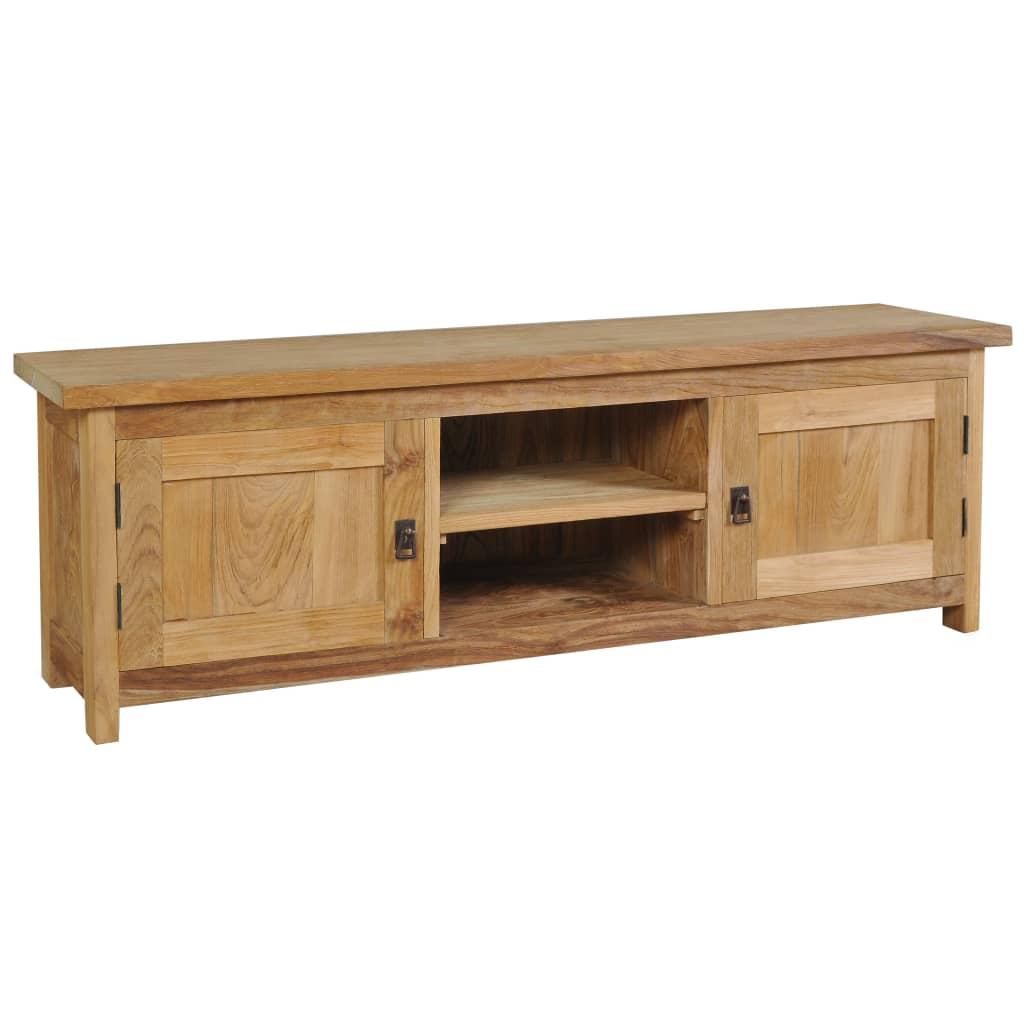 vidaXL Szafka pod telewizor, lite drewno tekowe, 120 x 30 x 40 cm