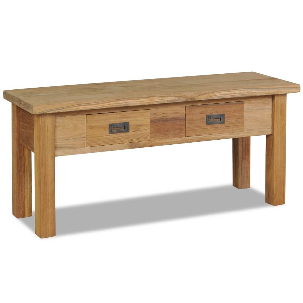 vidaXL tömör tíkfa szék előszoba pad 90 x 30 40 cm