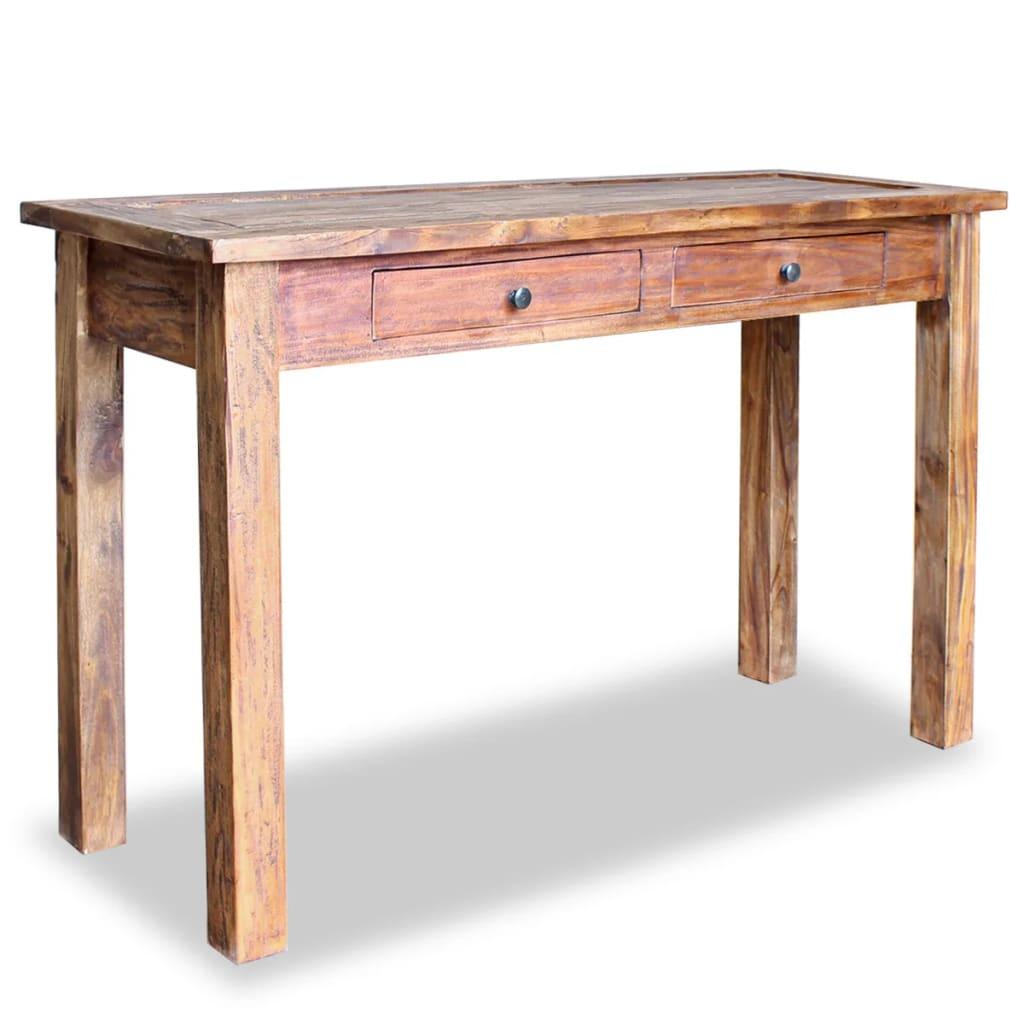 vidaXL tömör újrahasznosított fa tálalóasztal 123 x 42 75 cm