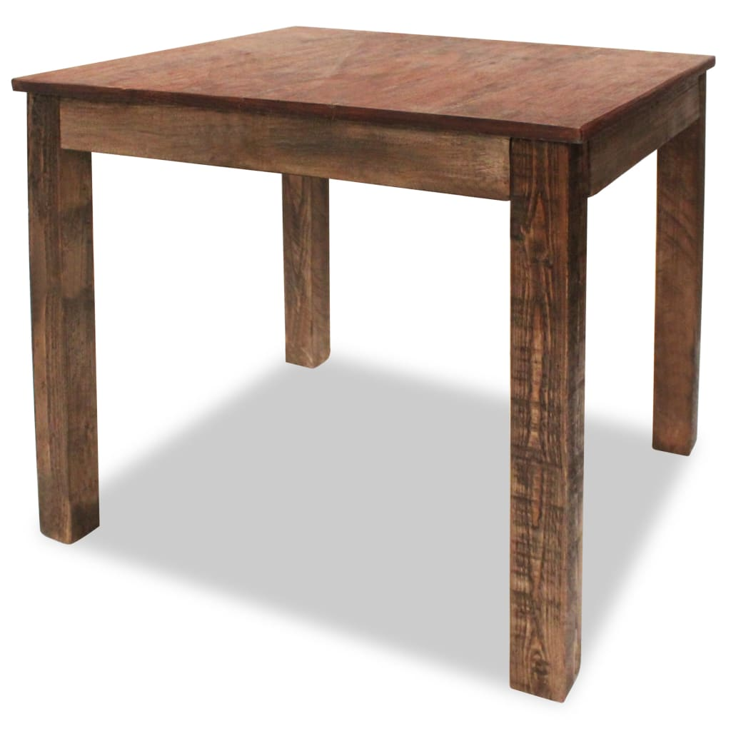 vidaXL tömör újrahasznosított fa étkezőasztal 82 x 80 76 cm