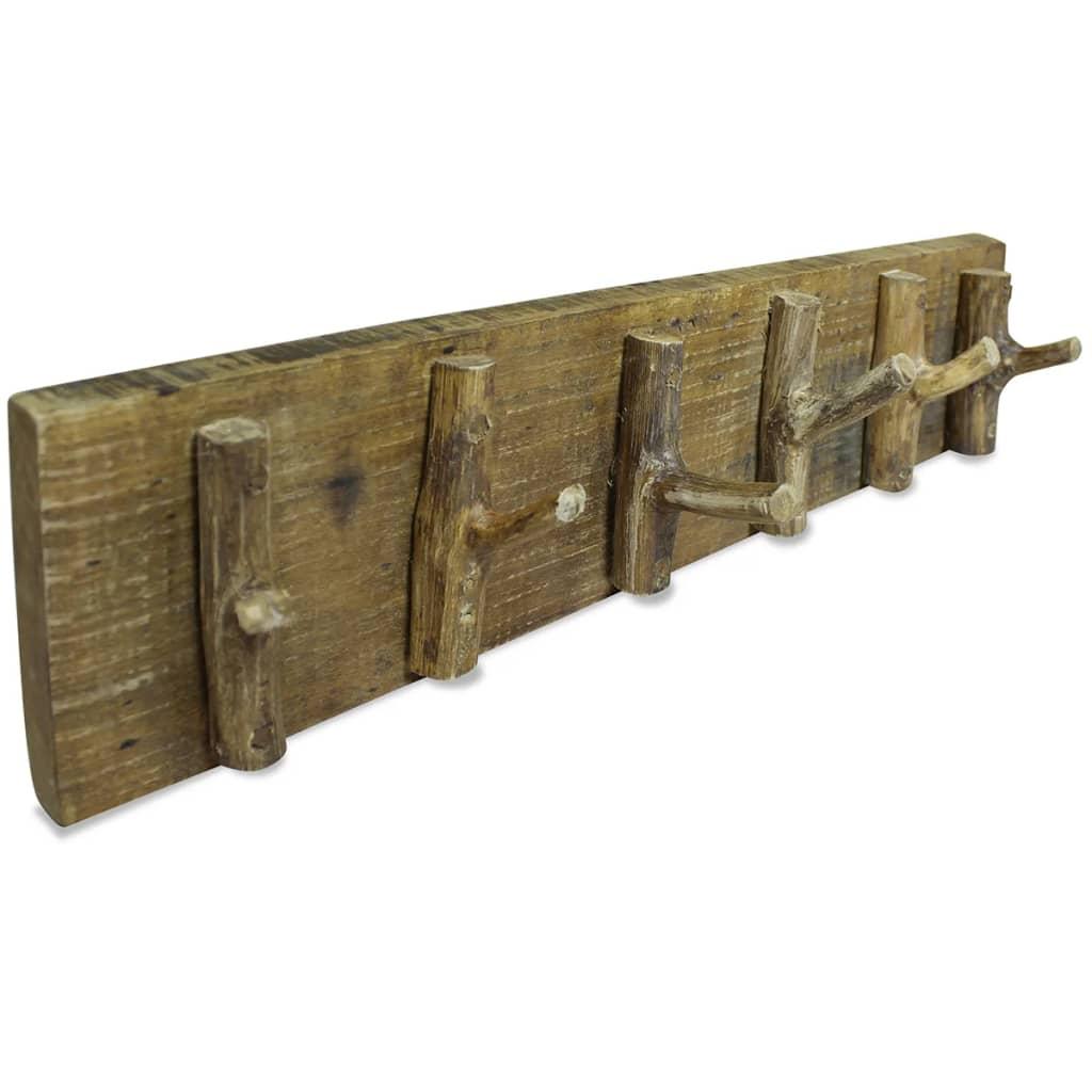 vidaXL 2 db tömör újrahasznosított fa ruhafogas 60 x 15 cm