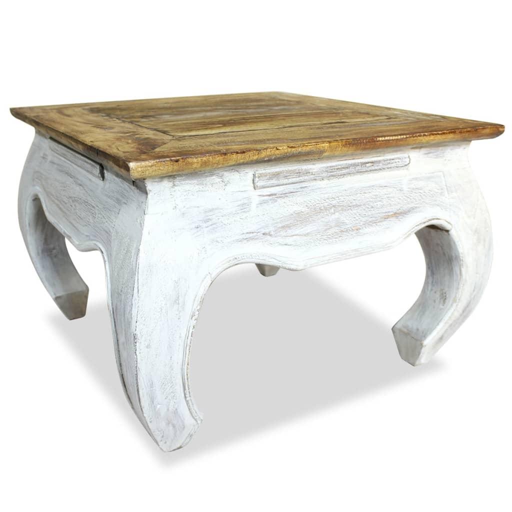 vidaXL tömör újrahasznosított fa dohányzóasztal 50 x 35 cm