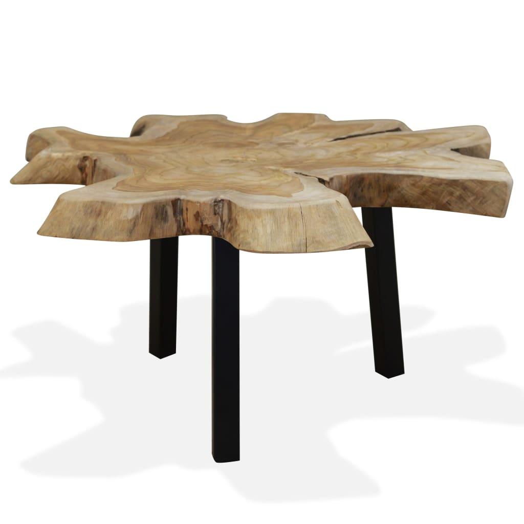 vidaXL valódi tíkfa dohányzóasztal 80 x 70 38 cm