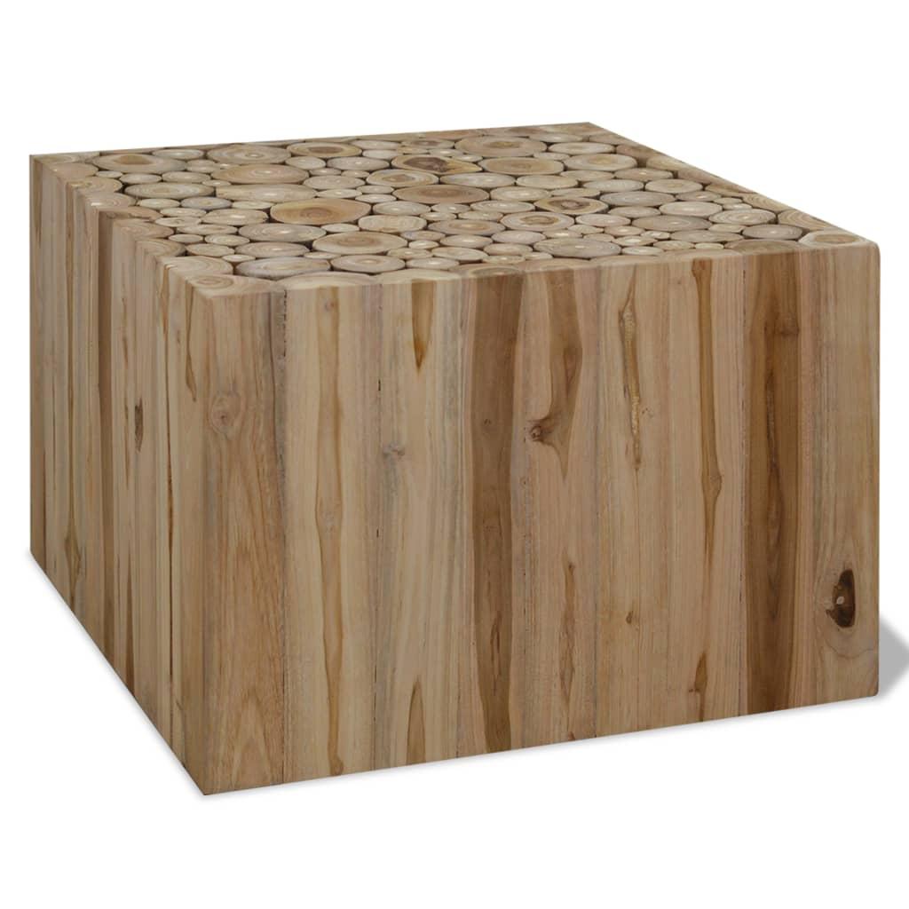 vidaXL Stolik kawowy z drewna tekowego, 50 x 35 cm