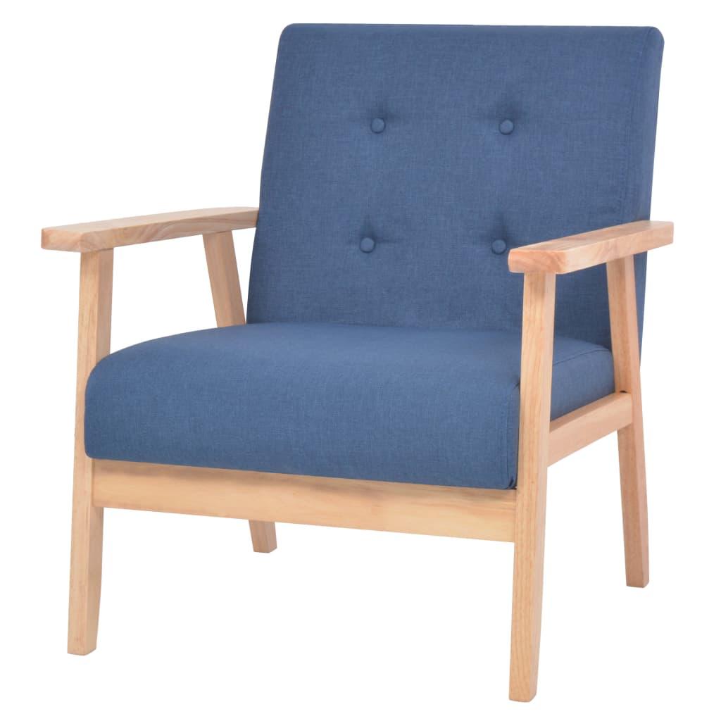 vidaXL Fotel tapicerowany, niebieski
