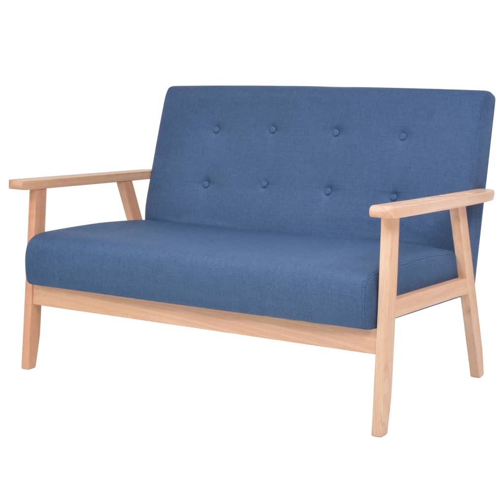 vidaXL 2-osobowa sofa tapicerowana, niebieska