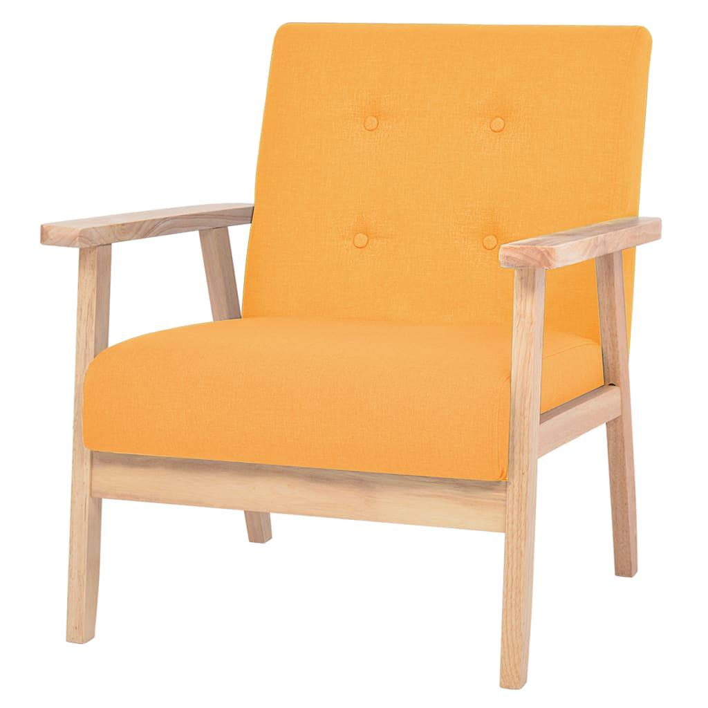 vidaXL Fotel tapicerowany, żółty