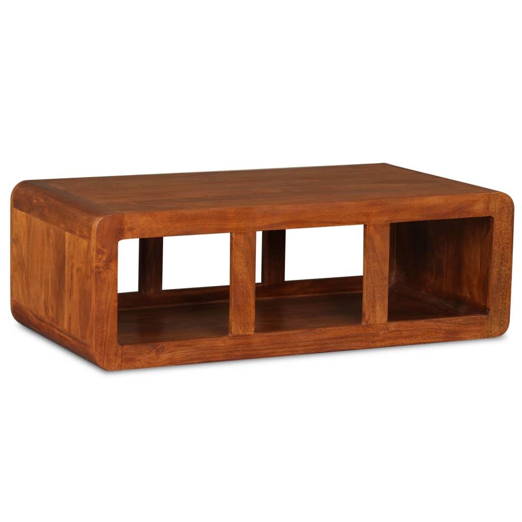 vidaXL Stolik kawowy, lite drewno stylizowane na sheesham, 90x50x30 cm