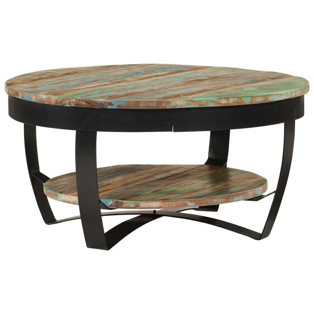 vidaXL tömör újrahasznosított fa dohányzóasztal 65 x 32 cm