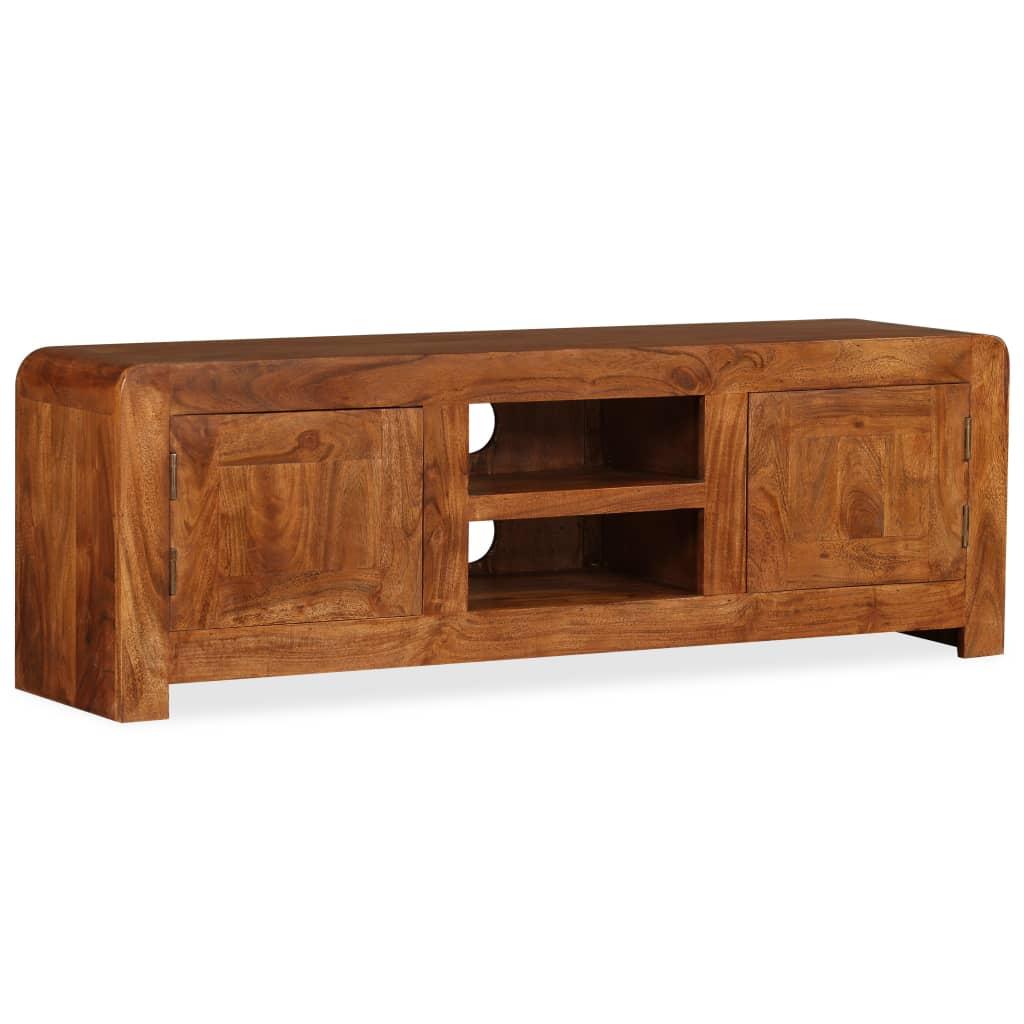 vidaXL TV-szekrény tömör fából paliszander felülettel 120x30x40 cm