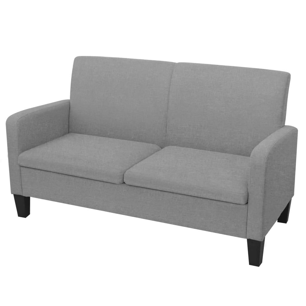 vidaXL 2-Sitzersofa 135 x 65 x76 cm Hellgrau